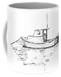 Boat In Casco Bay Coffee Mug