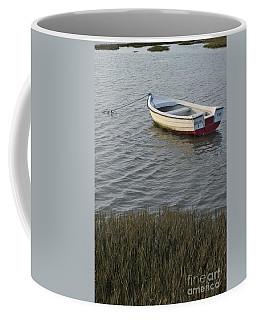 Boat In Ria Formosa - Faro Coffee Mug by Angelo DeVal