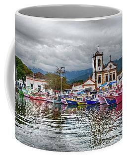 Boat In The Bay Coffee Mug