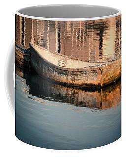 Boat In The Harbor Coffee Mug