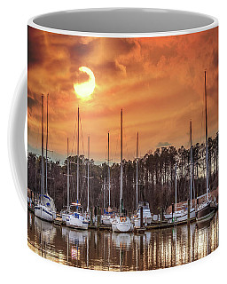 Boat Marina On The Chesapeake Bay At Sunset Coffee Mug