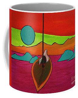 Boat Moonrise Coffee Mug