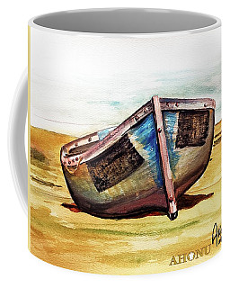 Boat On Beach Coffee Mug