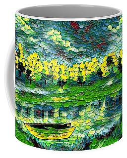 Boat On Lake Coffee Mug