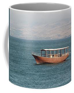 Boat On Sea Of Galilee Coffee Mug