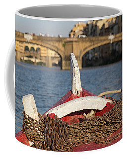 Boat On The Arno River,  Coffee Mug