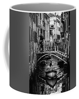 Boat On The River-bw Coffee Mug