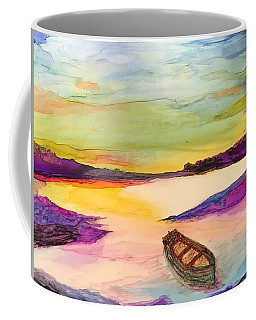 Boat On The River Coffee Mug