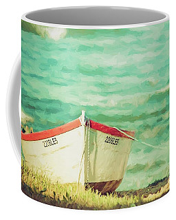 Boat On The Shore Coffee Mug