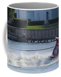Boat On The Water Coffee Mug by Aaron Martens