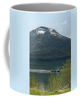 Boat On The Wrangell Narrows Coffee Mug