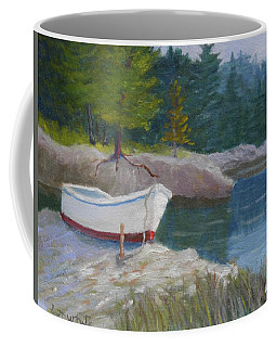 Boat On Tidal River Coffee Mug
