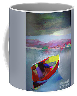 Boat On Whiskey Lake Coffee Mug