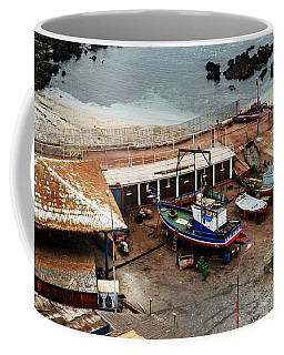 Boat Yard Iquique Harbor Chile Coffee Mug