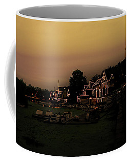 Coffee Mug featuring the photograph Boathouse Row From The Lagoon Before Dawn by Bill Cannon