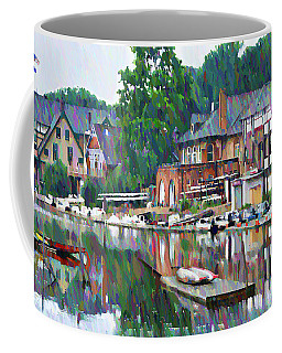 Boathouse Row In Philadelphia Coffee Mug by Bill Cannon