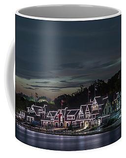 Boathouse Row Philly Pa Night Coffee Mug
