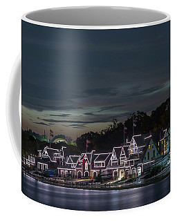 Boathouse Row Philly Pa Night Coffee Mug