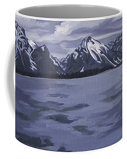 Coffee Mug featuring the painting Boating Jenny Lake, Grand Tetons by Erin Fickert-Rowland