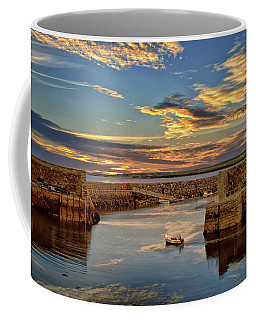 Boatman At Mullaghmore Harbour Coffee Mug