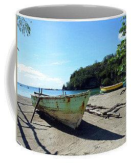 Coffee Mug featuring the photograph Boats At La Soufriere, St. Lucia by Kurt Van Wagner