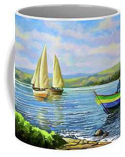 Boats At Lake Victoria Coffee Mug