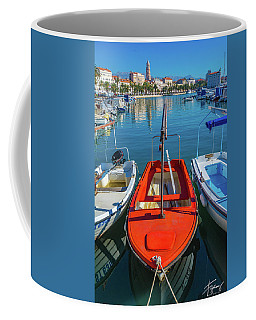Boats At Rovinj Coffee Mug