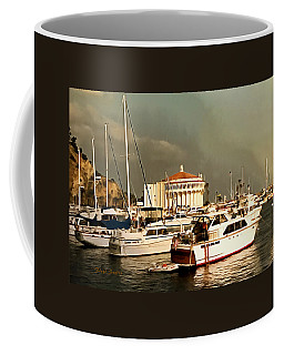 Coffee Mug featuring the photograph Boats Catalina Island California by Floyd Snyder
