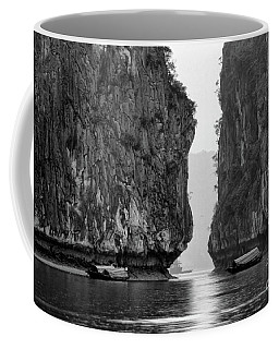 Boats Ha Long Bay Bw Coffee Mug
