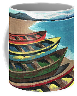 Boats In A Row Coffee Mug