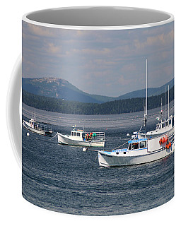 Boats In Bar Harbor Coffee Mug by Living Color Photography Lorraine Lynch