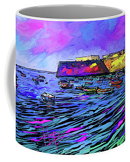 Boats In Cadiz, Spain Coffee Mug