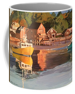 Boats In Kennebunkport Harbor Coffee Mug