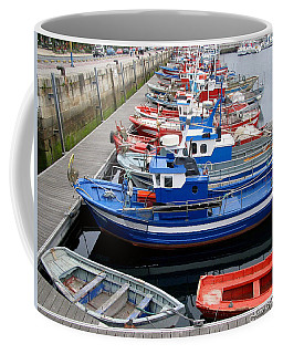 Coffee Mug featuring the photograph Boats In Norway by Joan  Minchak