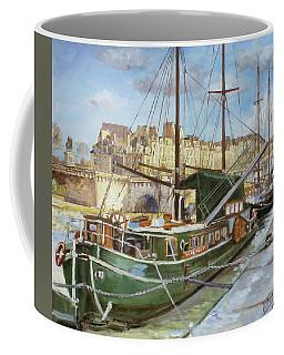 Boats In Paris, Pont Neuf Coffee Mug