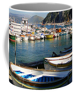 Boats In The Harbor Coffee Mug