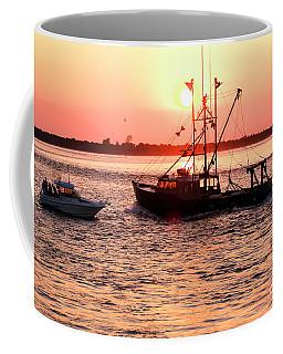 Boats In The Night At Long Beach Island Coffee Mug