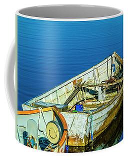 Boats In The Water Coffee Mug by Ken Morris