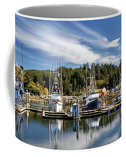 Coffee Mug featuring the photograph Boats In Winchester Bay by James Eddy