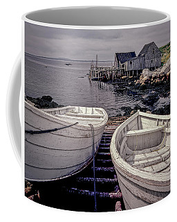 Boats Near Peggys Cove Coffee Mug