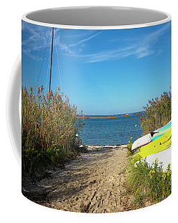 Coffee Mug featuring the photograph Boats On Long Beach Island by John Rizzuto