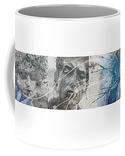 Bob Dylan Triptych Coffee Mug