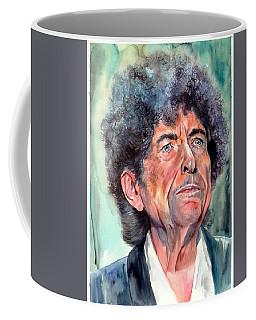 Bob Dylan Watercolor Portrait  Coffee Mug