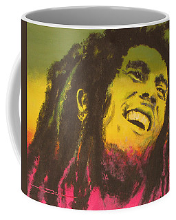 Coffee Mug featuring the painting Bob Marley by Eric Dee