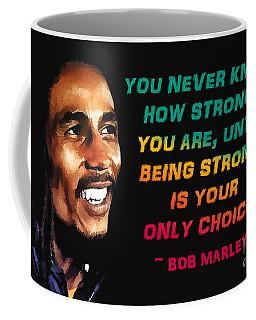 Bob Marley Quote Coffee Mug by Mim White