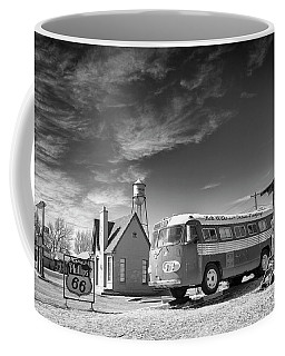 Coffee Mug featuring the photograph Bob Wills And The Texas Playboys Tour Bus Turkey Tx by Mary Lee Dereske