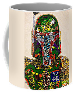 Boba Fett Star Wars Afrofuturist Collection Coffee Mug by Apanaki Temitayo M