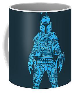 Boba Fett - Star Wars Art, Blue Coffee Mug