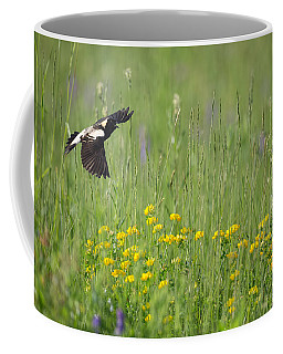 Coffee Mug featuring the photograph Bobolink In Paradise by Bill Wakeley