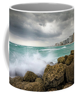 Boca Raton Florida Stormy Weather - Beach Waves Coffee Mug
